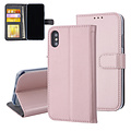 Andere merken Apple iPhone X/Xs Pasjeshouder Rose Gold Booktype hoesje - Magneetsluiting - Kunstleer; TPU