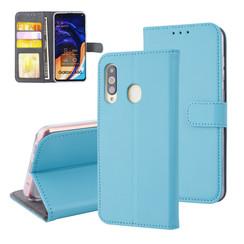 Samsung Galaxy A60 Pasjeshouder L Blauw Booktype hoesje - Magneetsluiting - Kunstleer; TPU