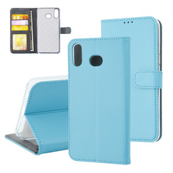 Samsung Galaxy A6s Card holder L blue Book type case for Galaxy A6s Magnetic closure