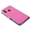 Andere merken Samsung Galaxy A20e Pasjeshouder Hot Pink Booktype hoesje - Magneetsluiting - Kunstleer; TPU