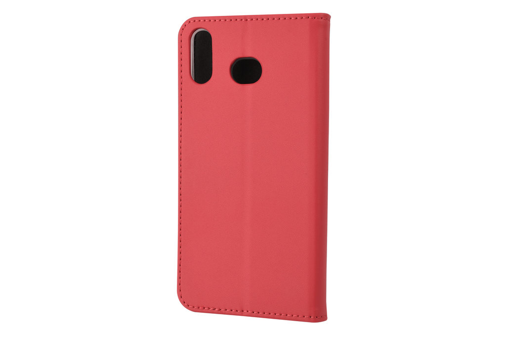Samsung Galaxy A6s Card holder Red Book type case for Galaxy A6s Magnetic closure