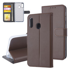 Samsung Galaxy A20e Card holder Brown Book type case for Galaxy A20e Magnetic closure