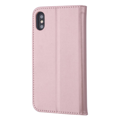 Andere merken Apple iPhone X/Xs Card holder Rose Gold Book type case for iPhone X/Xs Magnetic closure