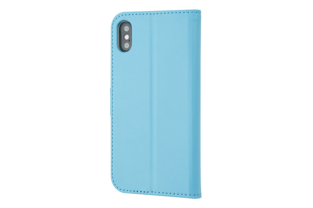 Apple iPhone X/Xs Card holder L blue Book type case for iPhone X/Xs Magnetic closure