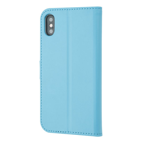Andere merken Apple iPhone X/Xs Card holder L blue Book type case for iPhone X/Xs Magnetic closure