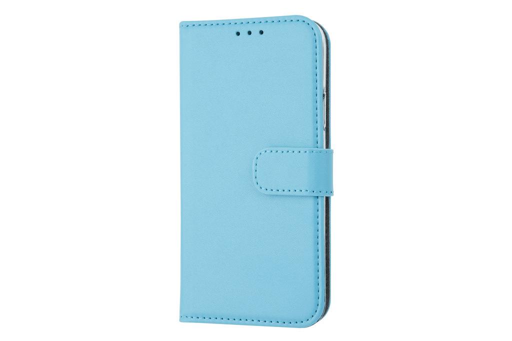 Apple iPhone X/Xs Pasjeshouder L Blauw Booktype hoesje - Magneetsluiting - Kunstleer; TPU