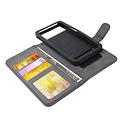 Andere merken Universeel 4.5 inch Pasjeshouder Zwart Booktype hoesje - Magneetsluiting - Kunstleer; TPU