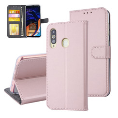 Samsung Galaxy A60 Pasjeshouder Rose Gold Booktype hoesje - Magneetsluiting - Kunstleer; TPU