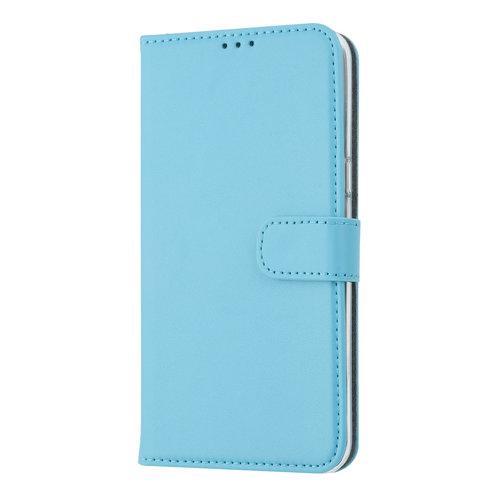 Andere merken Samsung Galaxy A6s Pasjeshouder L Blauw Booktype hoesje - Magneetsluiting - Kunstleer; TPU