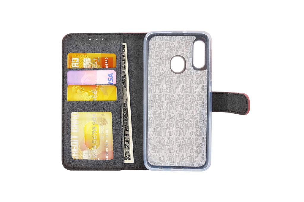 Samsung Galaxy A20e Pasjeshouder Zwart Booktype hoesje - Magneetsluiting - Kunstleer; TPU
