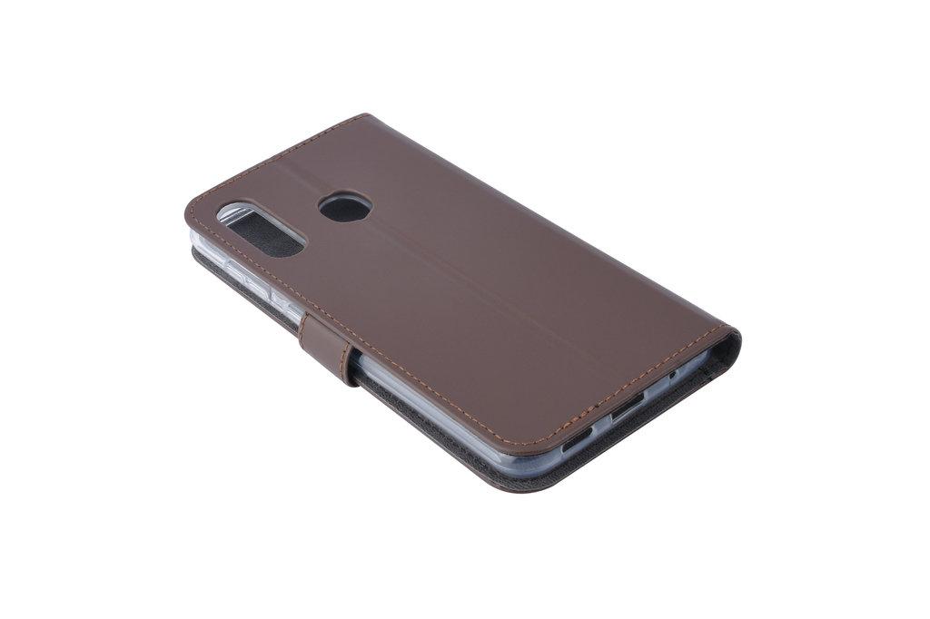 Samsung Galaxy M40 Pasjeshouder Bruin Booktype hoesje - Magneetsluiting - Kunstleer; TPU