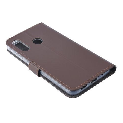 Andere merken Samsung Galaxy M40 Pasjeshouder Bruin Booktype hoesje - Magneetsluiting - Kunstleer; TPU