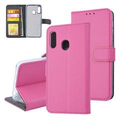 Samsung Galaxy A20e Titulaire de la carte Hot Rose Book type housse - Fermeture magnétique