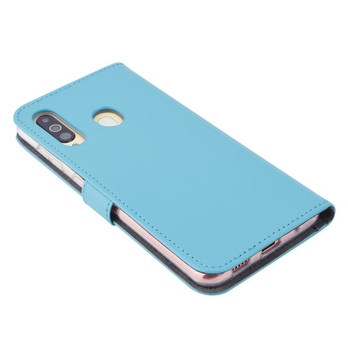 Andere merken Samsung Galaxy A60 Card holder L blue Book type case for Galaxy A60 Magnetic closure