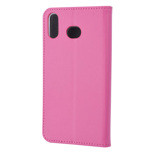 Andere merken Samsung Galaxy A6s Card holder Hot Pink Book type case for Galaxy A6s Magnetic closure