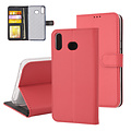 Andere merken Samsung Galaxy A6s Card holder Red Book type case for Galaxy A6s Magnetic closure