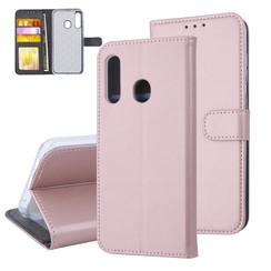 Samsung Galaxy M40 Pasjeshouder Rose Gold Booktype hoesje - Magneetsluiting - Kunstleer; TPU