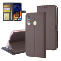 Samsung Galaxy A60 Card holder Brown Book type case for Galaxy A60 Magnetic closure