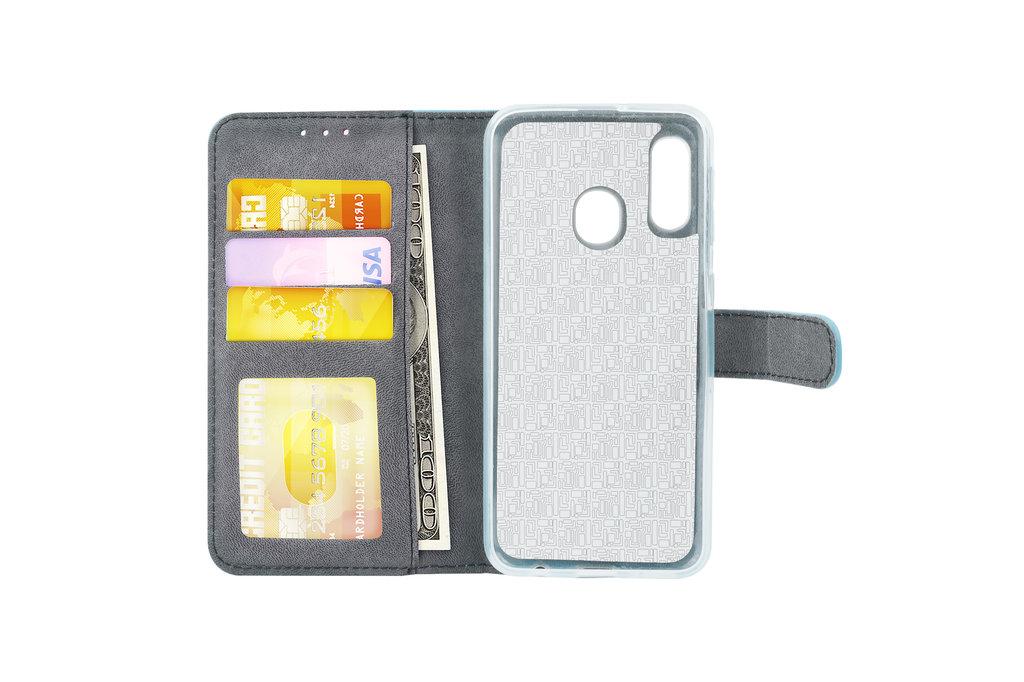 Samsung Galaxy A20e Card holder L blue Book type case for Galaxy A20e Magnetic closure