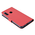 Andere merken Samsung Galaxy M40 Card holder Red Book type case for Galaxy M40 Magnetic closure