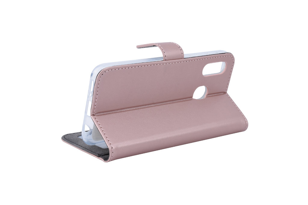 Samsung Galaxy A20e Card holder Rose Gold Book type case for Galaxy A20e Magnetic closure