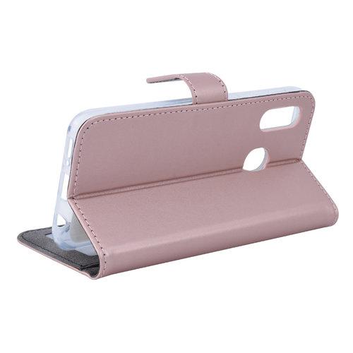 Andere merken Samsung Galaxy A20e Pasjeshouder Rose Gold Booktype hoesje - Magneetsluiting - Kunstleer; TPU
