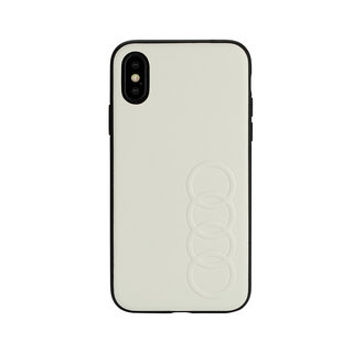Audi booktype hoesje TT Serie Apple iPhone Xs Max Wit - Sythetic leather - Kunstleer; TPU