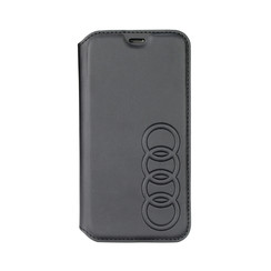 Audi booktype hoesje TT Serie Apple iPhone 7-8 Zwart - Sythetic leather - Kunstleer; TPU