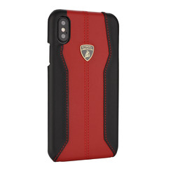Lamborghini back cover case Apple iPhone XR D1 Serie Red - Genuine Leather