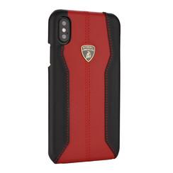 Lamborghini back cover coque Apple iPhone XR D1 Serie Rouge - Genuine Leather