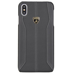 Lamborghini back cover case Huawei Huawei P30 Pro D1 Serie Black - Genuine Leather