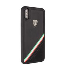 Lamborghini back cover case Apple iPhone XR Alcantara Black - Genuine Leather