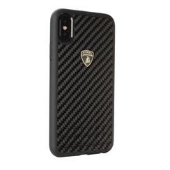 Lamborghini back cover case Apple iPhone XR S-Skin Black - Carbon fiber