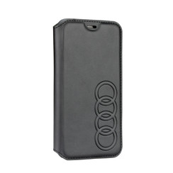 Audi back cover case Apple iPhone XR TT Serie Black - Sythetic leather