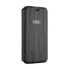 Audi Book-Case hul Apple iPhone X-Xs A6 Serie Schwarz -Sythetic leather - Kunstleer; TPU