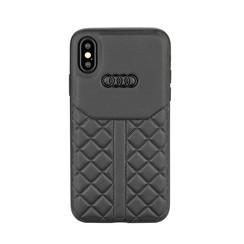 Audi back cover case Apple iPhone X-Xs Q8 Serie Black - Genuine Leather