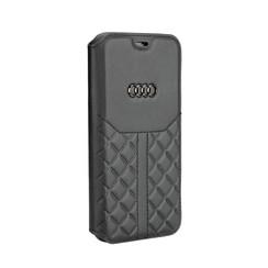 Audi book type case Apple iPhone X-Xs Q8 Serie Black - Genuine Leather