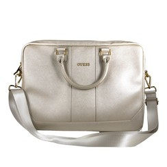 Guess universel 15 inch Beige Saffiano Laptop sac - Outdoor
