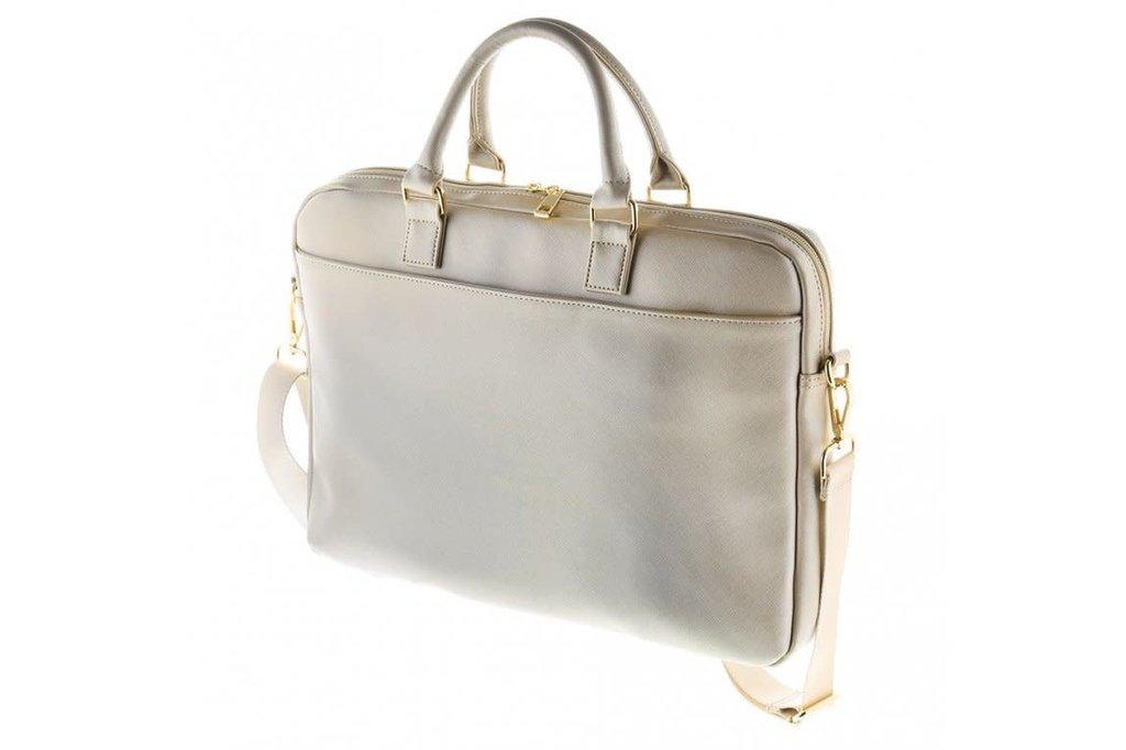 Guess Laptop sac Guess Universeel Guess Handbag Saffiano Look Beige - Computer Bag