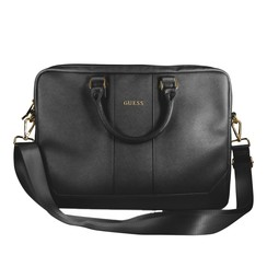 Guess Universal 15 inch Black Saffiano Laptop bag - Outdoor