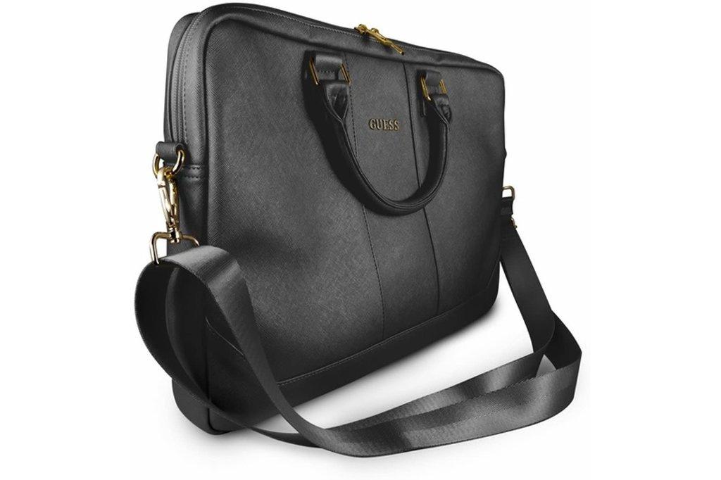 Guess Laptoptas 15 inch Saffiano Look Guess Universeel Zwart - Computer Bag - Kunstleer
