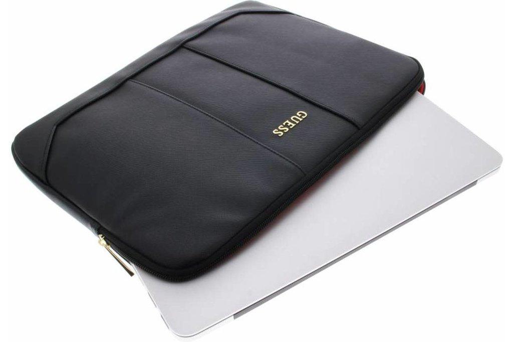 Guess Laptoptas 13 inch  Saffiano Look Guess Universeel Zwart - Computer Sleeve - Kunstleer