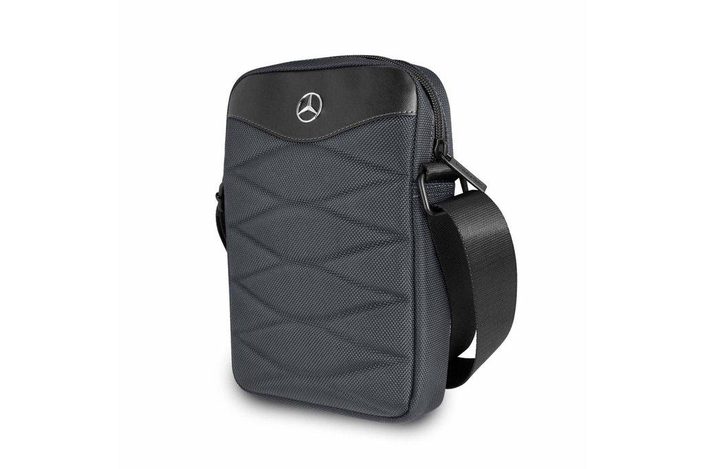 Mercedes-Benz Tablettas 10 inch Pattern III Mercedes-Benz Universeel Grijs - Tablet bag - Kunstleer