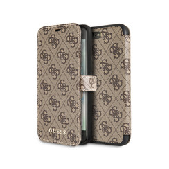 Guess book type housse Apple iPhone 7-8 Plus Cardslots Marron - Book Case