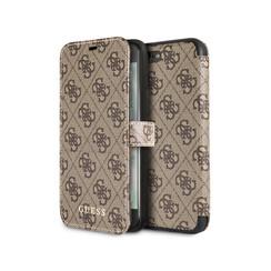 Guess booktype hoesje Cardslots Apple iPhone 7-8 Plus Bruin - Book Case - Kunstleer; TPU