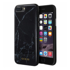 Guess backcover hoesje Marble Collection Apple iPhone 7-8 Plus Zwart - Hard Case - TPU