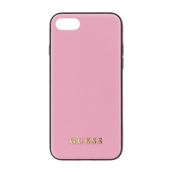 Guess back cover coque Apple iPhone 7-8 Silicone Rose - Saffiano
