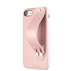 Guess back cover coque Apple iPhone 7-8 Strap Rose - Iridescent