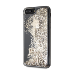 Guess back cover case Apple iPhone 7-8 Glitter Gold - Hearts