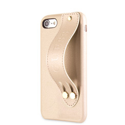 Guess back cover coque Apple iPhone 7-8 Strap Beige - Iridescent